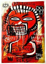 Amazing painting J.M. Basquiat. Oil on paper. 1980s. N021.