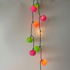 Halloween Pumpkins 20 String Lights  Totally Ghoul Green Wire Indoor Outdoor