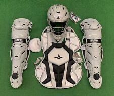 All Star System 7 Axis Intermediate 13-16 Catchers Gear Set - Silver Black