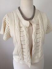 KOOKAI Crème Coton knitlined été FEMME Taille 10 1 très bon état