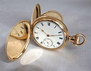 1922 Excellent WALTHAM R/Gold Hunter Gents Pocket Watch. Working Antique
