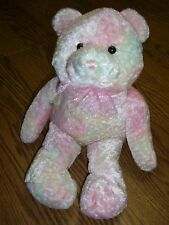 """Animal Alley Filled with Love Pastel Bear Plush/Pink Ribbon/16"""" Tall/Age 3+"""