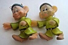 "Disney Dopey Ornaments (2) 4.5"" China"