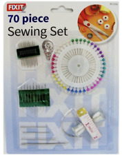 70 Piece Sewing Set, Needles, Thimbles, Pearl Pins, Tape Measure, Home sew knit