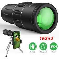 High Power HD Monocular Telescopes 16X52 Binoculars Spyglass Night Vision UK