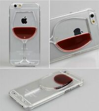 iphone Red Wine Liquid Glass Moving 3D APPLE Case Cover Holder5 5s 6 & 6+ Bubble