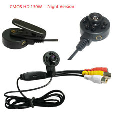HD 1300TVL Security Pinhole Mini Infrared Night Vision Wired CAMERA IR Spy Cam