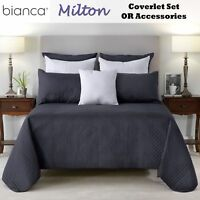 Milton Embroidered Coverlet with Pillowcase(s) OR Accessories by Bianca