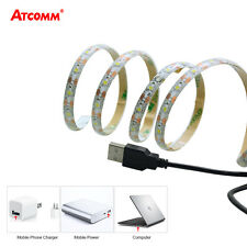 5050SMD ,Cool White , USB LED Strip Flexible 1M 60 Light IP65 Waterproof DC 5V