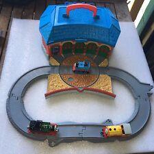 Learning Curve Carry Case Thomas Roundhouse & Track Set & 3 x locomotives