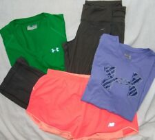 Womens Fitness Lot (4) UNDER ARMOUR & NIKE & More Shorts, Pants & Shirts Sz M