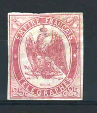 """FRANCE STAMP TIMBRE TELEGRAPHE 1 """" 25c ROUGE CARMIN 1868 """" NEUF (x) A VOIR  R312"""
