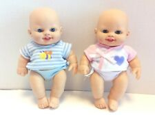 Toys R Us You & Me Mini Baby Dolls Blue Eyes Twins Boy & Girl With Outfits 8in