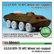 Dw35013 1/35 def model btr-70 APC sagged Wheel Set (for Zvezda)