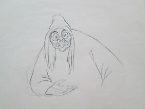Snow White 1937 Disney cel production Witch Drawing