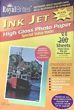 "Royal Brites Ink Jet 88 sheets High Gloss Photo Paper 4"" x 6"" High Quality"