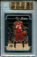 2003 Bowman Basketball #123 Lebron James Rookie Card RC Graded BGS Gem Mint 9.5