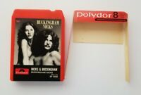 Buckingham Nicks Rare Vintage 8 Track Cassette Polydor Dust Cover