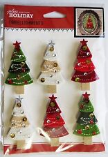 Christmas Trees Repeat Forest Tree Lot ADORABLE Jolee's 3D Sticker