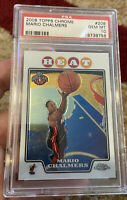 2008 Topps Chrome #208 Mario Chalmers PSA Gem Mint 10 Rookie Card Pop Only 6