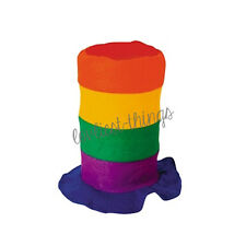 Gay Pride Rainbow Stove Pipe Felt Tall Top Party Hat Festivals Novelty Parade