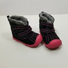 Carters Child Of Mine Infant Winter Boots Size 5 Black Pink