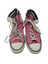 Womens Girls Converse All Star Pink White High Tops Trainers UK Size 5.5 #4
