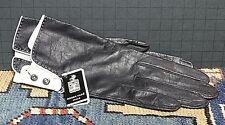 Vintage Roger Fare' Paris France Black/White Cabretta Handmade Dress Gloves Xs