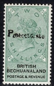 8.16,BECHUANALAND,1888 VICTORIA,SG. 47,SC. 55,VERY LIGHT TRACES OF HINGE