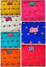 Indian sana silk Bridal saree wedding embroidery blouse sari