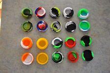 LOT OF 10 TEN 5 ML Silicone Container Different Random Colors Non Stick Jar
