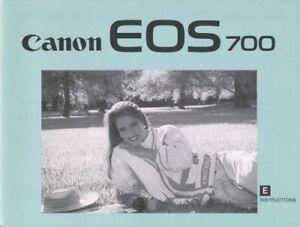 Canon EOS 700 Instruction Manual Original