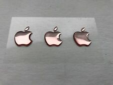 3x3D Abovedado Apple Rosa Logo Pegatinas para Iphone Trasero Size 15 ,5x12, 6 Mm