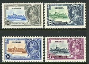 British 1935 KGV Silver Jubilee Nigeria Scott #34-37 Mint Non Hinged Y242
