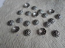 Antique Silver 12mm Bead Caps ~ Pack 30