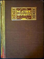 Weather Opinions:A Book of Quotations with Interleaves on Weather Nash/Elder 1st