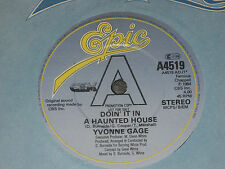 "Yvonne Gage ‎– Doin' It In A Haunted House    PROMO  7""   EX SHOP"