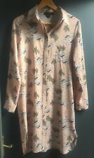 Atmosphere Size 10 Long Sleeve Dusty Pink Patterned Light Tunic