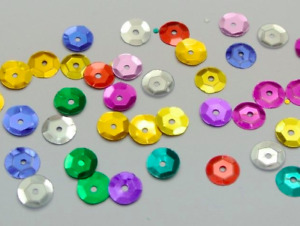 6-7mm SEQUINS CUPPED LOOSE ROUND SEQUINS, SEWING/EMBELLISHMENTS ART CARD MAKING