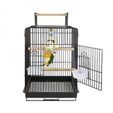 Top Rainforest Cages Cockatiel parrots Santa Monica Black Conure Bird Cage Open