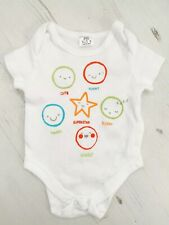 Fred & Flo White Baby Vest Bodysuit Up To 1 Month Newborn