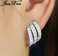 925 Sterling Silver Filled Angel Wings Zircon Studded Earrings [Ear-22]