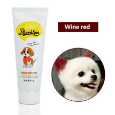 80ml Pet Dog Hair Color Dye Coloring Dyeing Harmless Natural Dyeing Agent Safty