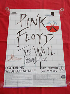+++ 1981 PINK FLOYD The Wall Concert Poster Dortmund Germany 1st print!