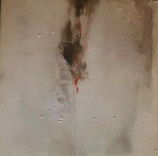 Philippe Becker huile sur toile mixte étude abstraction 30/30/3cm signed signée