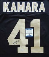 Alvin Kamara New Orleans Saints Signed Auto Black XL Jersey BAS WITNESSED COA