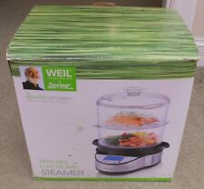 Weil The Healthy Kitchen Food Steamer Electronic Two 2-Tier NEW NIB
