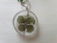 Luck And Wealth In Green Cord Adjustable Rare Luck Five Leaf Clover Pendent For