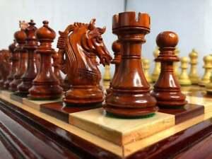 "Bud Rosewood Luxury Staunton Chess Pieces Set King 4.5"" Alexander Series Weightd"