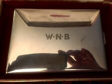 Vintage XL The THOMAE CO. Sterling Silver Cigarette Case,Heavy 8.4oz